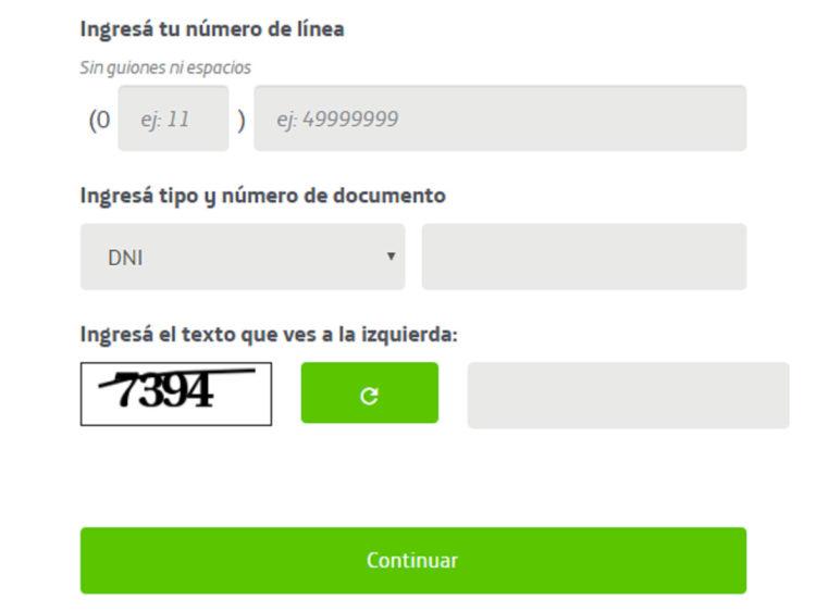 la web de telefónica Argentina
