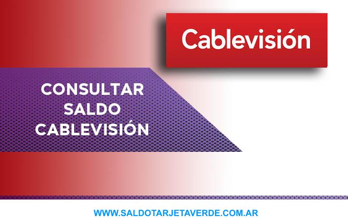 Consultar saldo cablevision