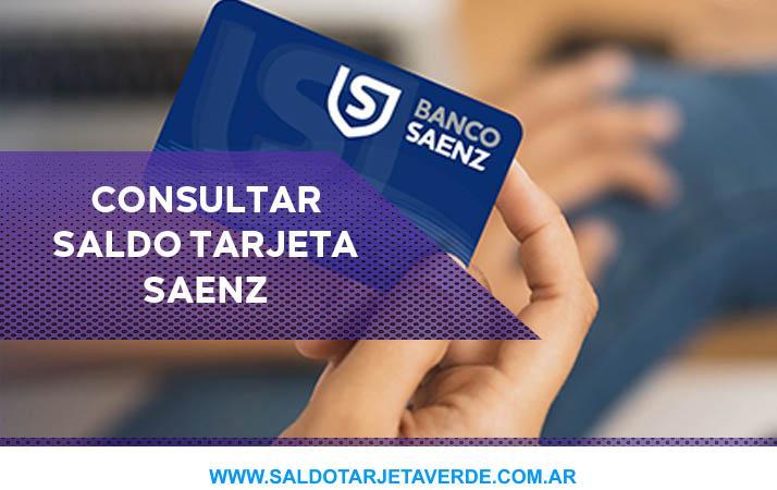Consultar saldo tarjeta saenz